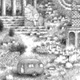 Imaginary Landscape with Airstream (detail), graphite on paper, 2007, 8″ x 10″